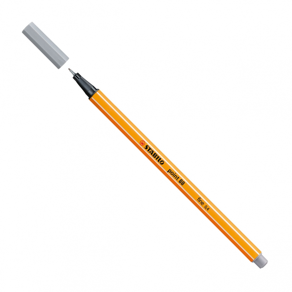 ,Stabilo fineler 88 kleur 95 grijs