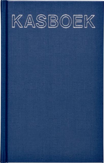 ,Kasboek 103x165mm 192blz 1 kolom blauw