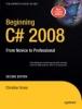 Gross, Christian, Beginning C# 2008