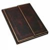 <b>Pb8430</b>,Paperblanks notitieboek black moroccan grande wrap blanco