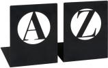 <b>Mos-83083</b>,Libri boekensteun a - z , modern, zwart