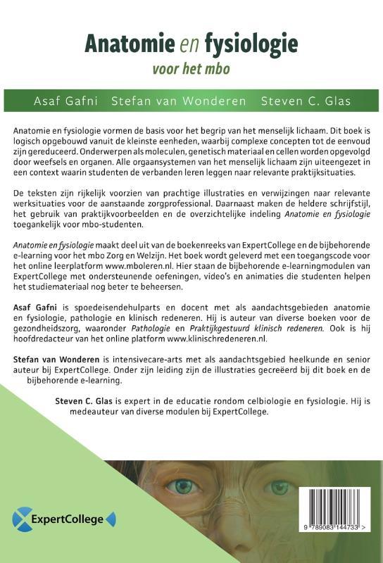 Asaf Gafni, Stefan van Wonderen, Steven C. Glas,Anatomie en fysiologie voor het mbo