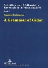 Zygmunt Frajzyngier A Grammar of Gidar