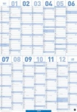 Mega-Posterplaner, blau - Kalender 2017