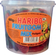, Haribo Fruitgom Mix 650gram