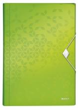 , Sorteermap Leitz WOW 6 tabbladen PP groen