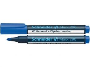 , Viltstift Schneider 290 whiteboard rond blauw 2-3mm