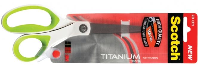 , Schaar Scotch 20cm titanium met groot oog blister