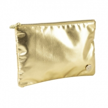 , Etui qc sparkle cosmetic 21cm nylon goud plat