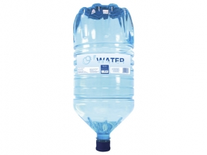 , bronwater O-water fles 18 liter