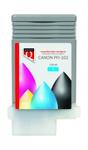, INKCARTRIDGE QUANTORE CANON PFI-102 BLAUW
