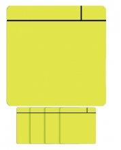 , Magneet scrum 75x75mm geel