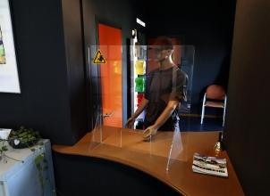 , Baliescherm transparant veiligheidsscherm 75x80cm