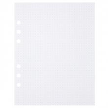 , Tekenpapier MyArtBook A5 150gr 6-gaats 50vel dotted wit