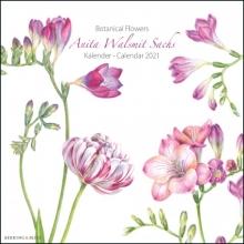 , Botanical Flowers, Anita Walsmit Sachs maandkalender 2021