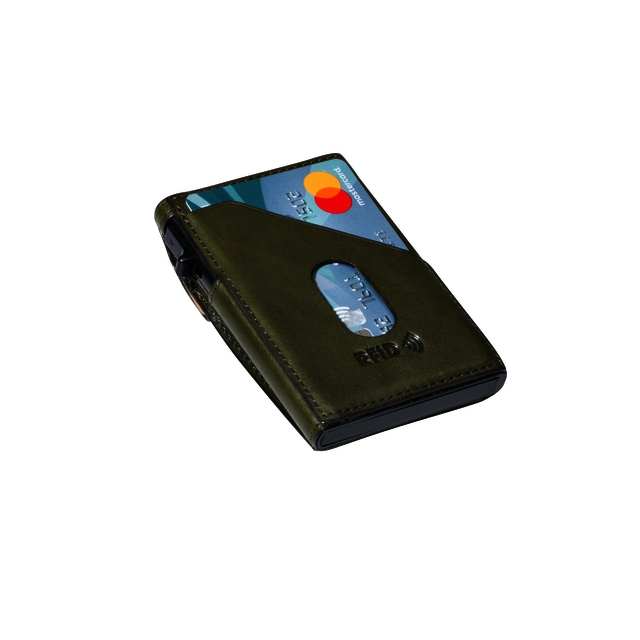 ,Kaarthouder Tony Perotti Slim Furbo RFID leer groen