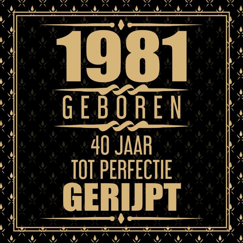 Niek Wigman,1981 Geboren 40 Jaar Tot Perfectie Gerijpt