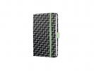 ,notitieboek Sigel Jolie Beauty A6 hardcover gelinieerd      `black monochrome`