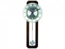,Wandklok NeXtime 32 x 80 cm, melkglas & hout, `Retro        Pendulum`