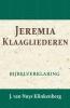 J. van Nuys Klinkenberg,Jeremia & Klaagliederen