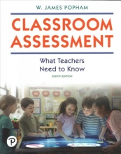 Popham, W. James Classroom Assessment + Mylab Education With Pearson Etext Access Code