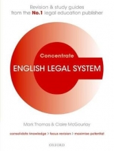 Vollans, Tim English Legal System Concentrate