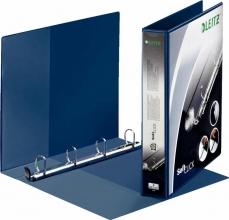 , Presentatieringband Leitz SoftClick A4 Maxi 4-rings D-mech 30mm blauw