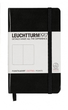 Lt333915 , Leuchtturm notitieboek pocket 90x150 dots / bullets zwart