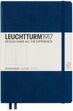 Lt342921 , Leuchtturm notitieboek pocket 90x150 dots  / bullets marineblauw