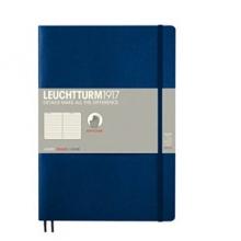 Lt349300 , Leuchtturm notitieboek composition softcover 178x254 mm lijn navyblauw