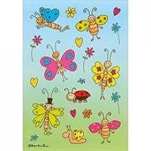 ,Etiket Herma fladerende vlinders
