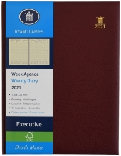 , Bureau agenda 2021 ryam executive 7dag/2pag bordeaux 17x22