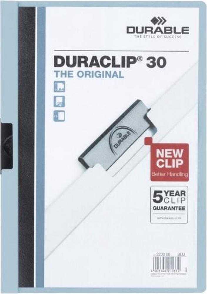 ,Klemmap Durable 2200 A4 3mm lichtblauw