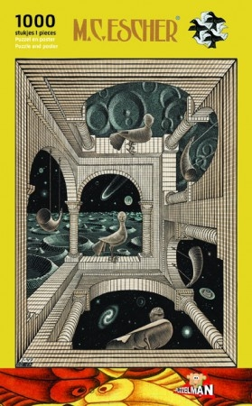 Puz-863,Andere wereld - m.c. escher - puzzel - 1000