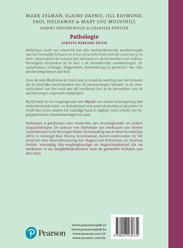 Mark Zelman, Elaine Tompary, Jill Raymond, Paul Holdaway, Mary Lou E. Mulvihill,Pathologie