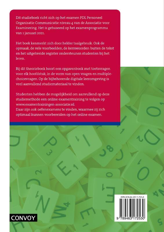 D.R. in `t Veld,PDL Personeel Organisatie Communicatie Theorieboek 2021-2022