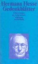 Hesse, Hermann Gedenkbltter