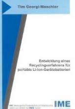 Georgi-Maschler, Tim Entwicklung eines Recyclingverfahrens für portable Li-Ion-Gerätebatterien