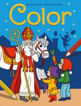 , Sinterklaas Color kleurblok Saint-Nicolas Color bloc de coloriage
