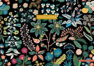ZNU , Weekplanner - Floral Black