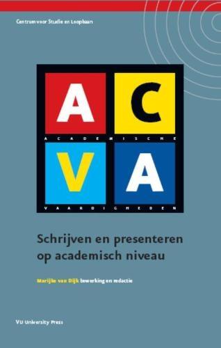 ,ACVA schrijven en presenteren op academisch niveau