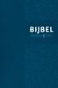 ,Bijbel (HSV) met Psalmen - vivella blauw zilversnee