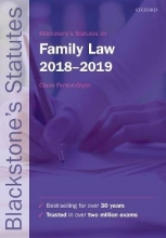 Fenton-Glynn, Claire Blackstone`s Statutes on Family Law 2018-2019