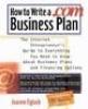 J. Eglash, How to Write a  .com Business Plan