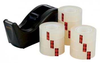 , Plakband Scotch Crystal 600 19mmx33m transparant + gratis C60 houder