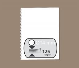 , Draadrug Fellowes 14mm 34-rings A4 wit 100stuks