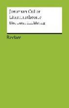 Culler, Jonathan,   Mahler, Andreas Literaturtheorie
