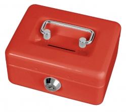, Geldkist MAUL met muntgleuf 125x95x60mm rood