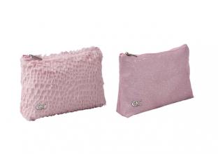 , Etui qc parkle 23cm plat pink glitter