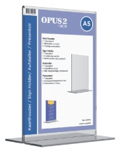 , Kaarthouder OPUS 2 T-standaard A5 staand acryl